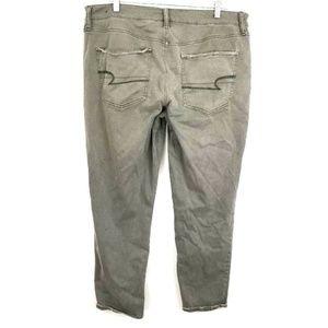 AMERICAN EAGLE Womens 14 Green TOMGIRL Pants